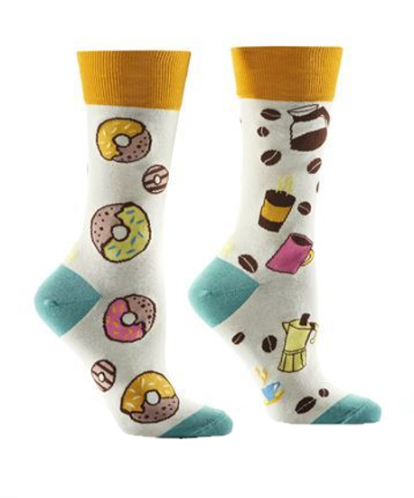 Donut & Coffee Women's Crew Socks by Yo Sox