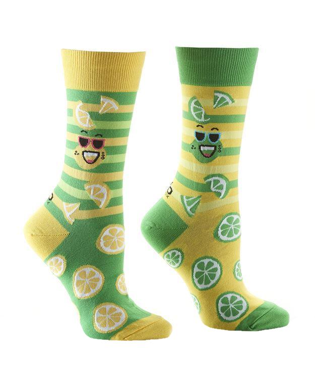 Lemon & Lime Women's Crew Socks by Yo Sox