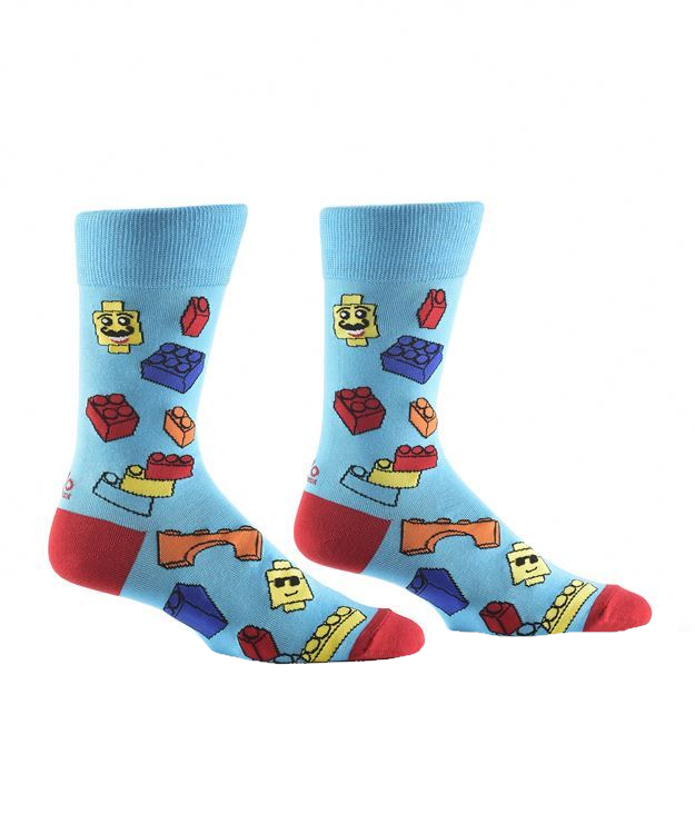 Brick Bros Men's Crew Socks by Yo Sox