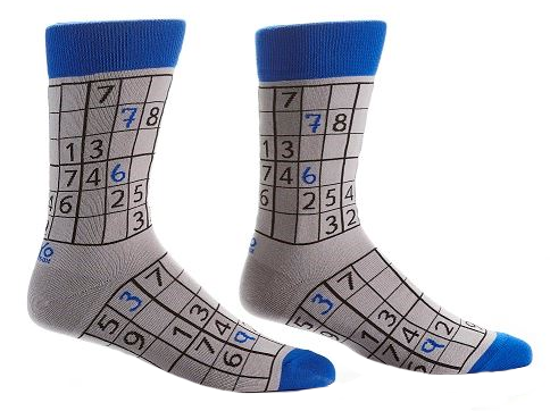 Sudoku Men's Crew Socks by Yo Sox