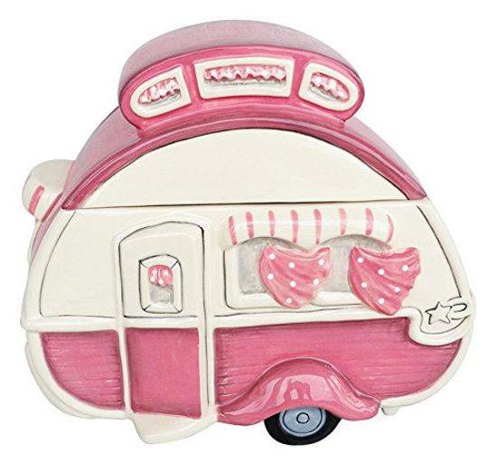 Retro Camper Cookie Jar Pink by Blue Sky Clayworks