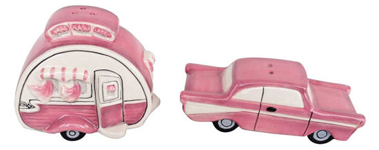 Camper Salt & Pepper Set, Pink by Blue Sky Clayworks