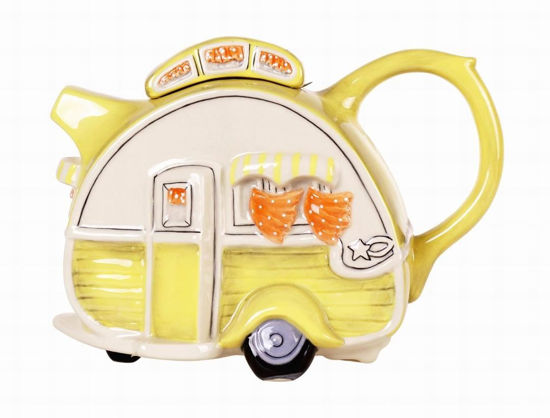 Yellow Caravan Teapot by Blue Sky Clayworks