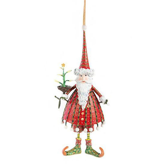 Dash Away Dashing Santa Ornament by Patience Brewster