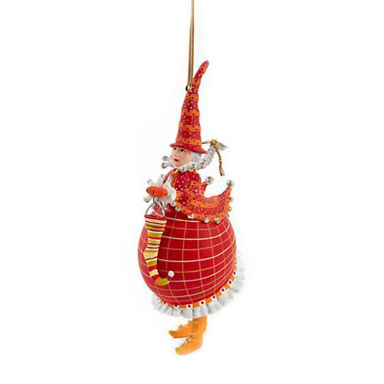 Red Mrs. Santa Ornament by Patience Brewster