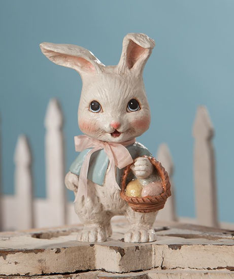 Sweet Bunny with Basket by Bethany Lowe Designs