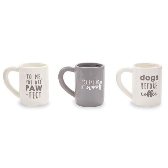 Dogs Before Coffee Mugs (Assorted) by Mudpie