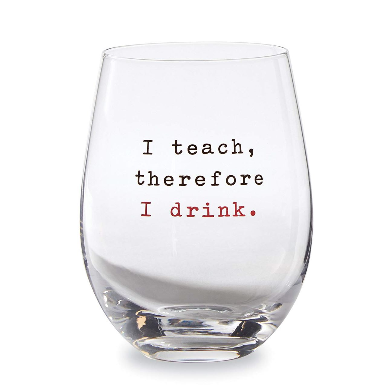 Teacher Stemless Wine Glass by Mudpie