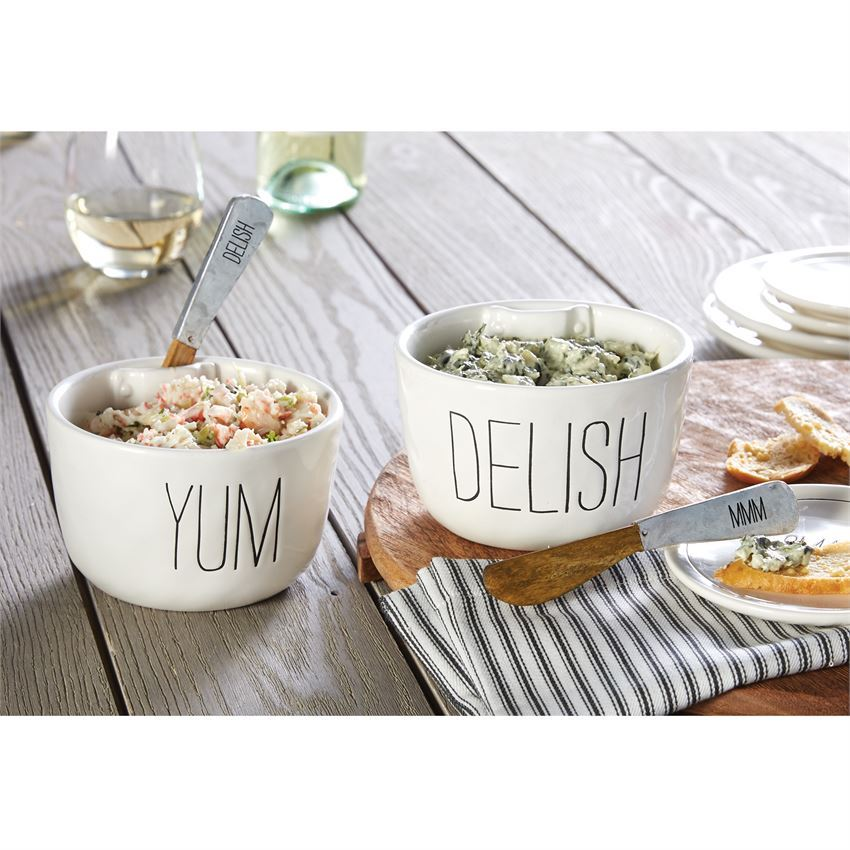 Delish & Yum Dip Bowl Set (Assorted) by Mudpie