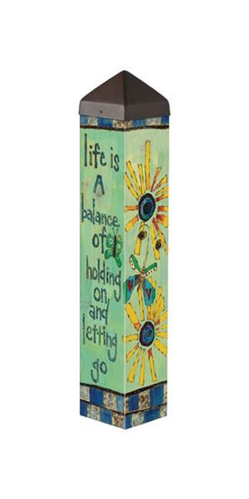 "Life is a Balance 20"" Art Pole by Studio M"