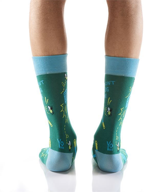 Bugg Off Men's Crew Socks by Yo Sox