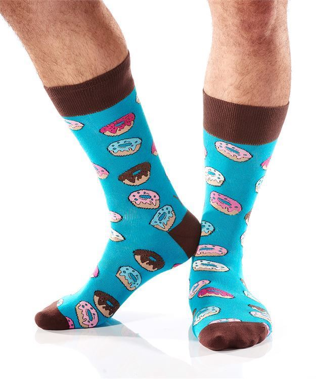 Donuts Men's Crew Socks by Yo Sox