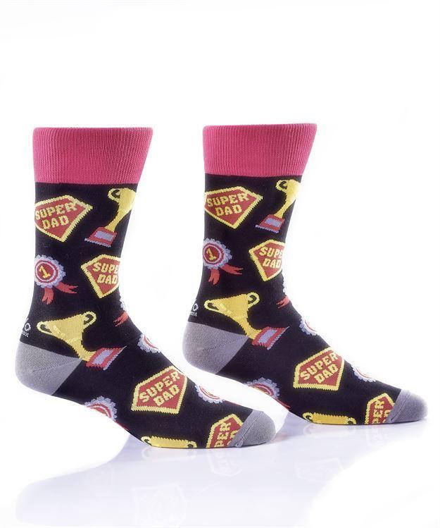 Super Dad Men's Crew Socks by Yo Sox
