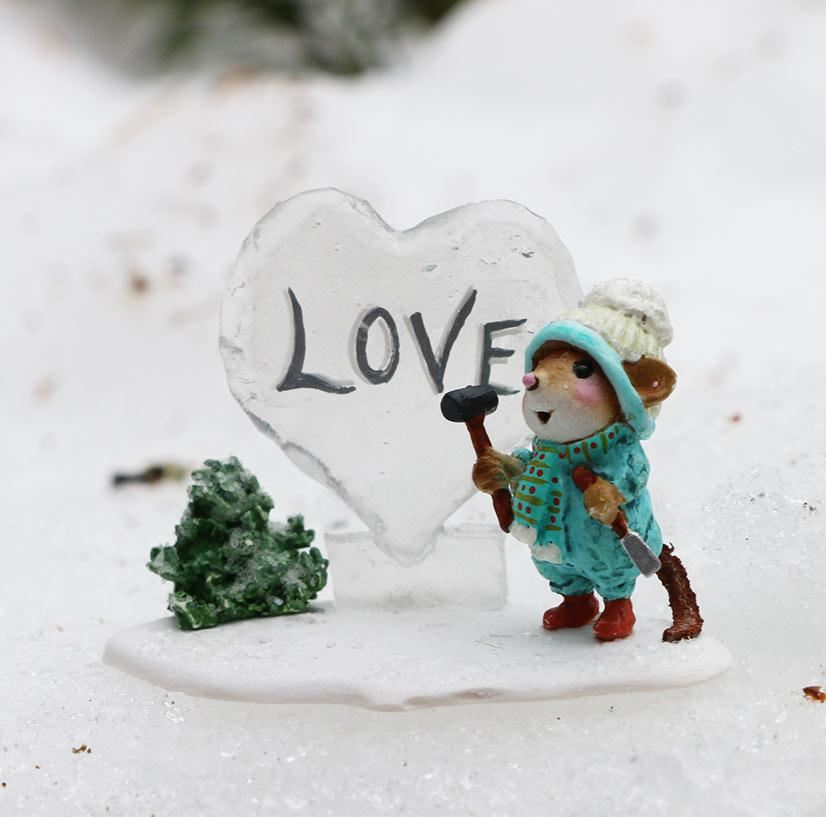 Ice Love Sculpture M-418d by Wee Forest Folk