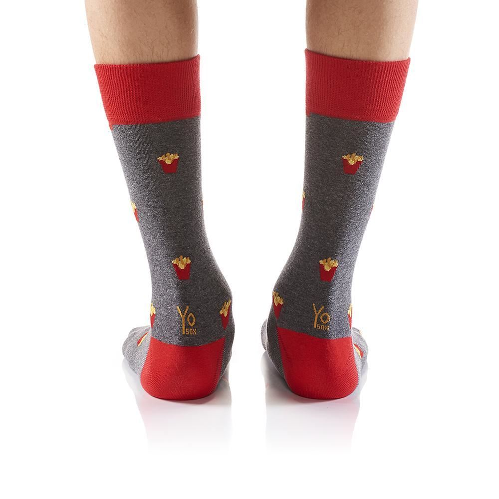 Fries with That Men's Crew Socks by Yo Sox
