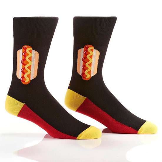 Hot Dog Men's Crew Socks by Yo Sox