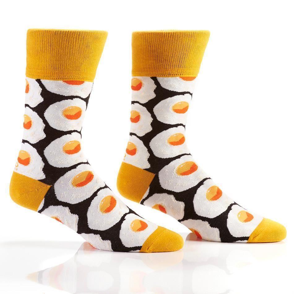 Sunny-Side Up Men's Crew Socks by Yo Sox