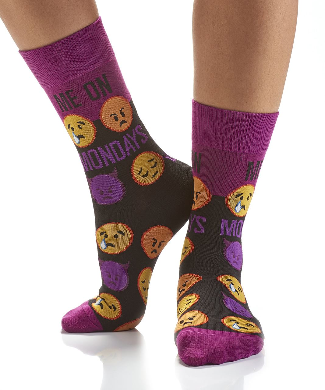 Monday Mornings Women's Crew Socks by Yo Sox