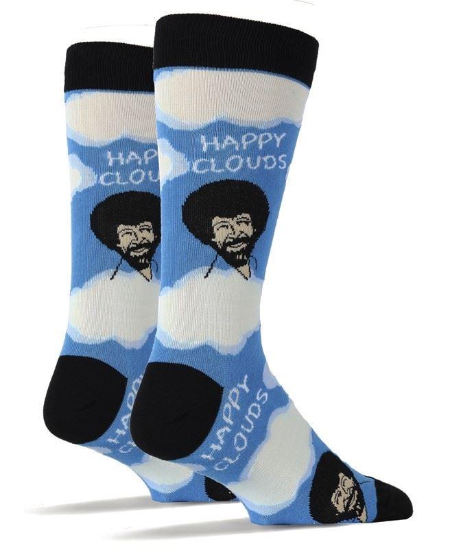 Bob Ross Happy Clouds Men's Socks by OOOH Yeah Socks