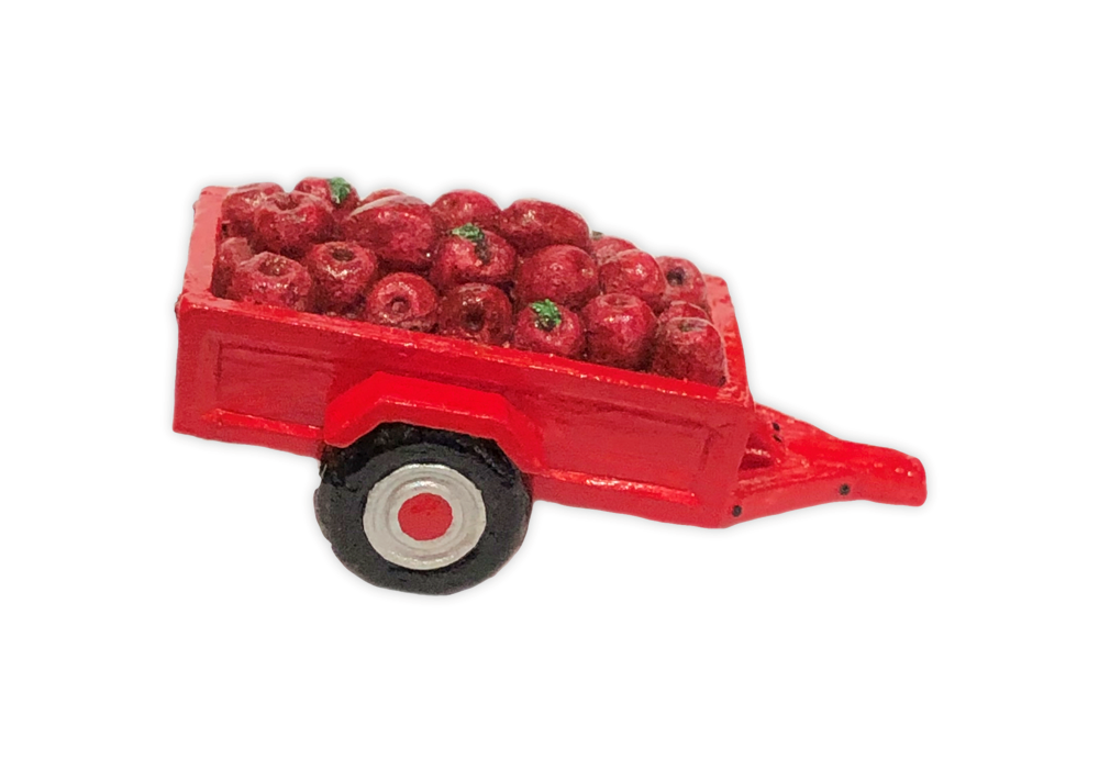 Cart with Apples (red) for Habitat Hideaway