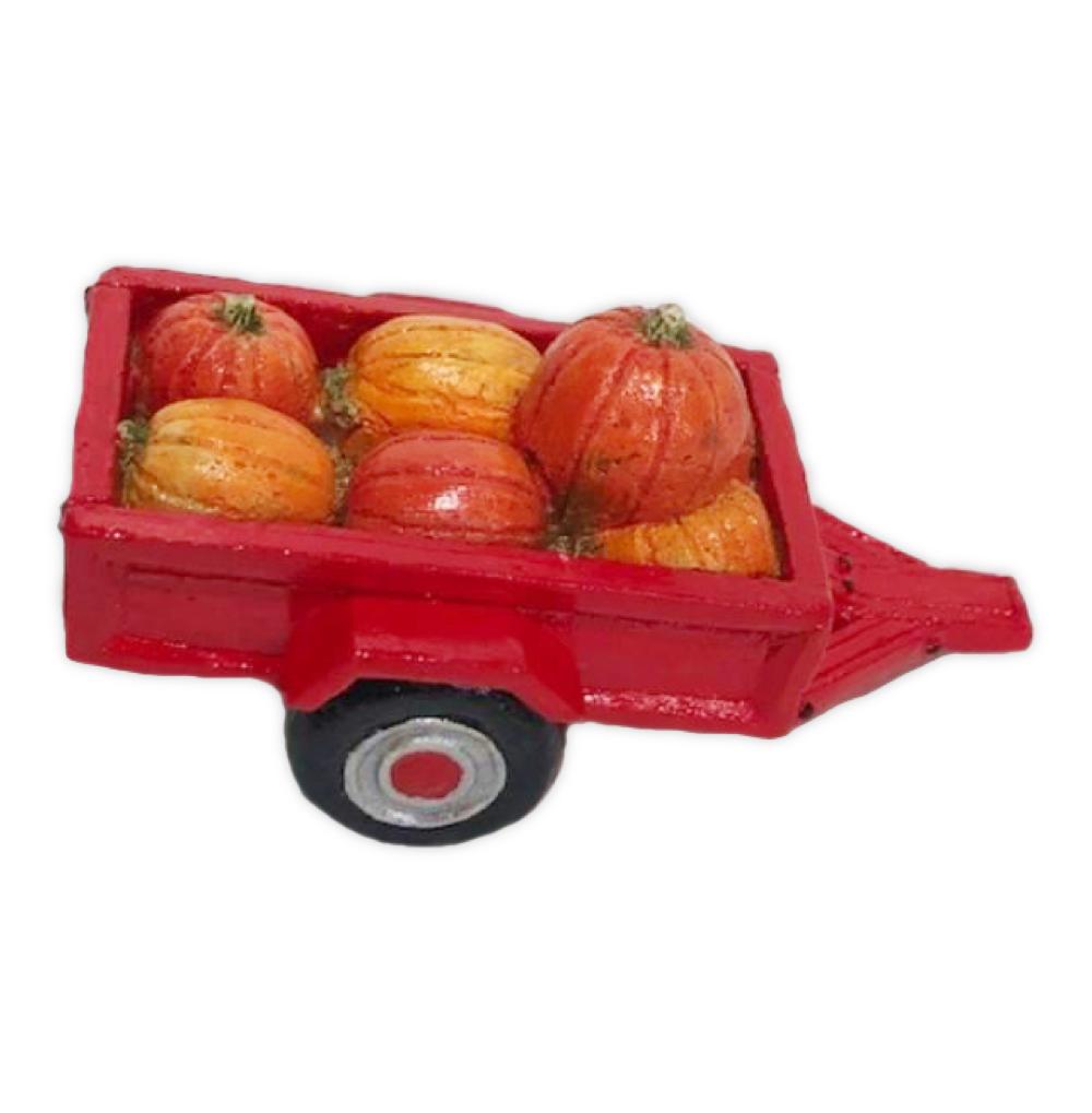 Cart with Pumpkins (red) for Habitat Hideaway