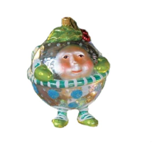Jingle Bell Glass Ornaments (Boy) by Patience Brewster