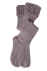 Velour Me In Tall Socks (Mauve) by Simply Noelle