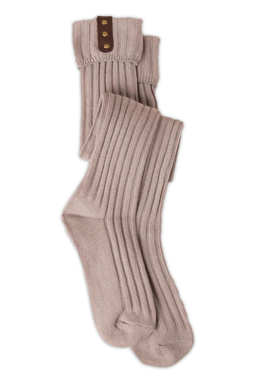 Tall Stud Placket Socks (Pumpkin) by Simply Noelle