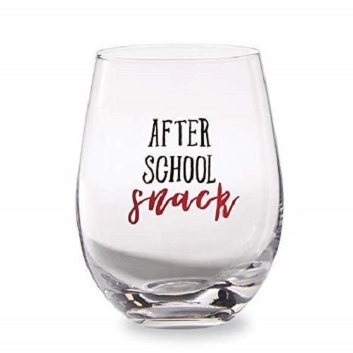 Teacher Stemless Wine Glass by Mudpie