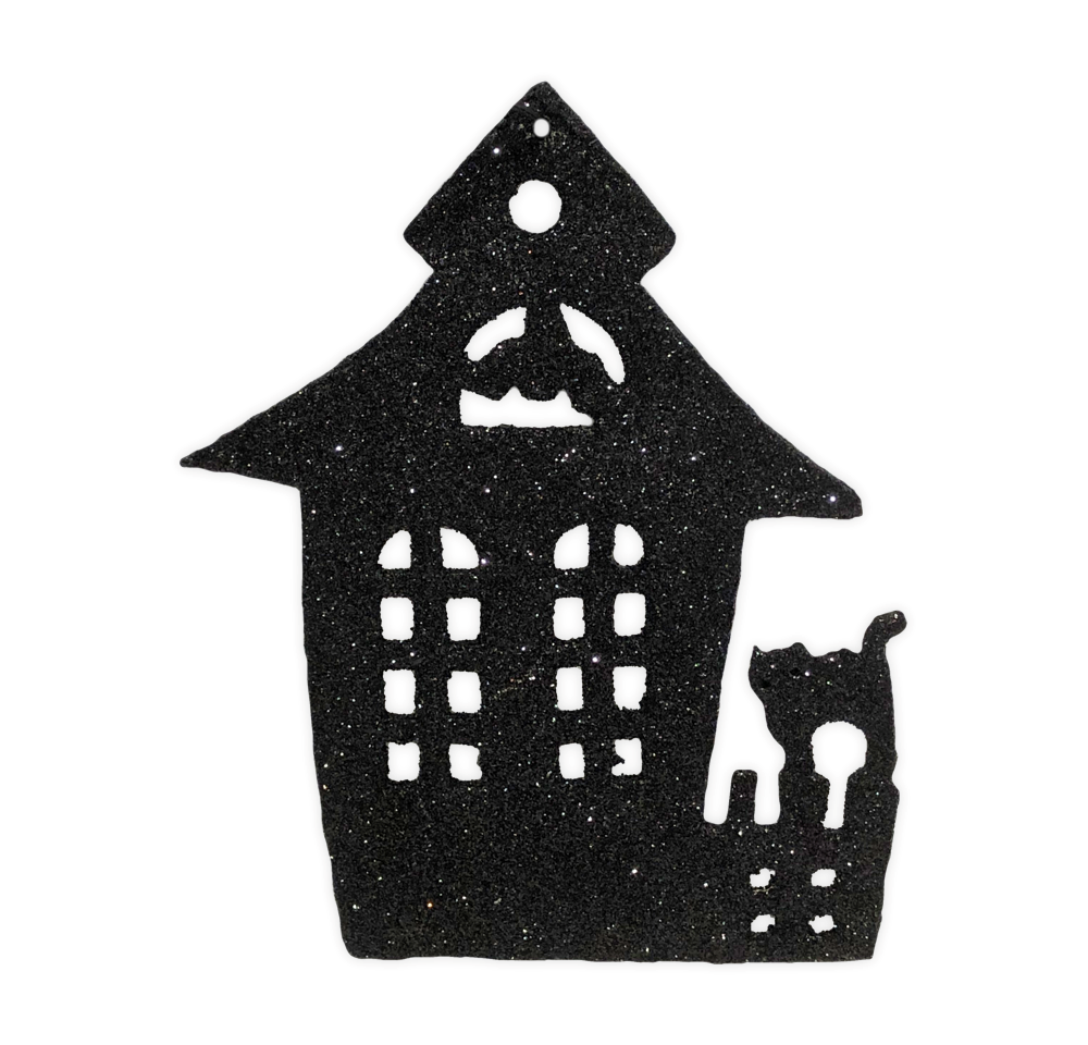 Halloween Silhouette Ornaments (Set of 4) by Bethany Lowe Designs