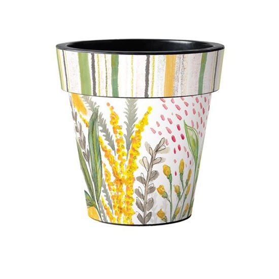"""Fresh Flower Goldenrod 15"""" Art Pot by Studio M"""