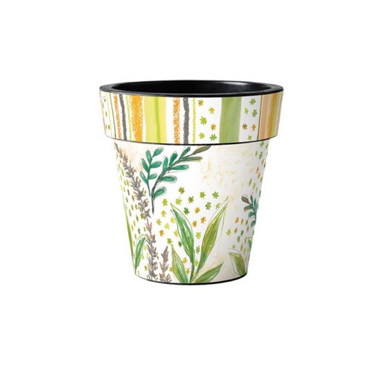 "Fresh Flowers Leaves 12"" Art Planter by Studio M"