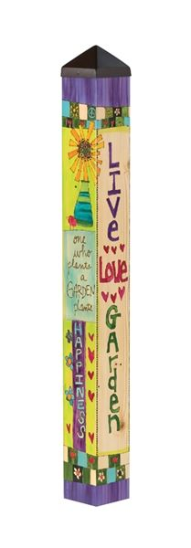 Live Love Garden 3' Art Pole by Studio M