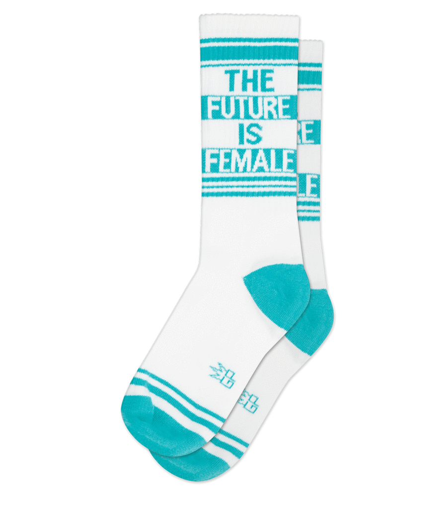 The Future is Female Gym Socks by Gumball Poodle
