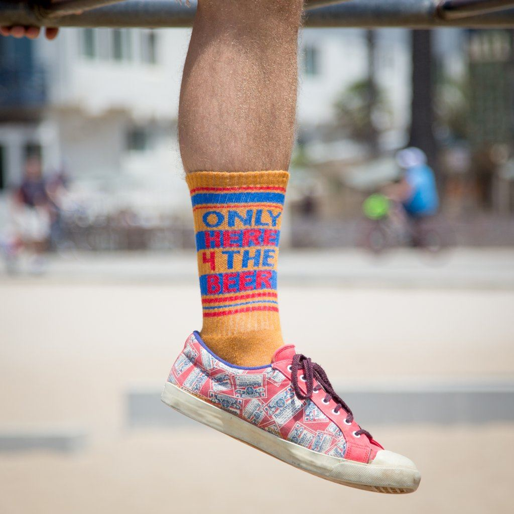 Only Here 4 the Beer Gym Socks by Gumball Poodle