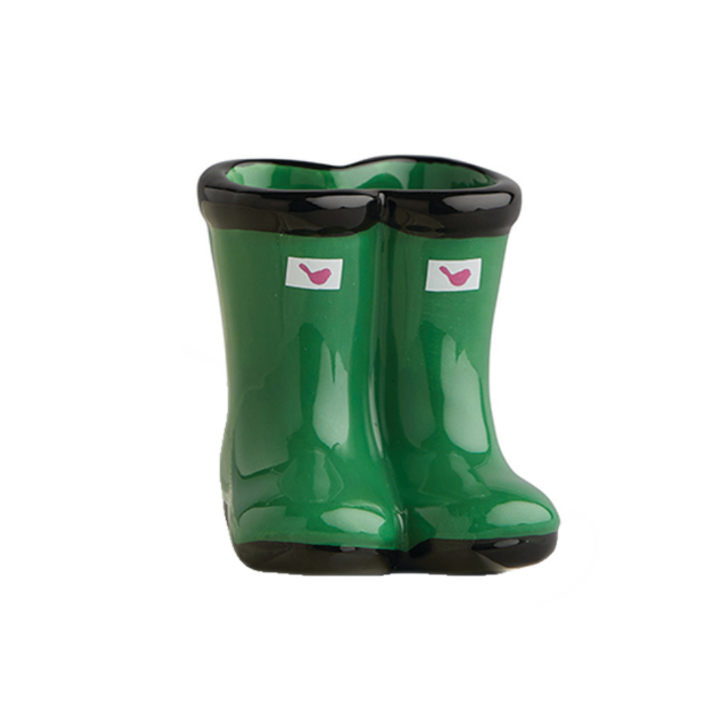 Jumpin' Puddles (Green Wellies) Mini by Nora Fleming