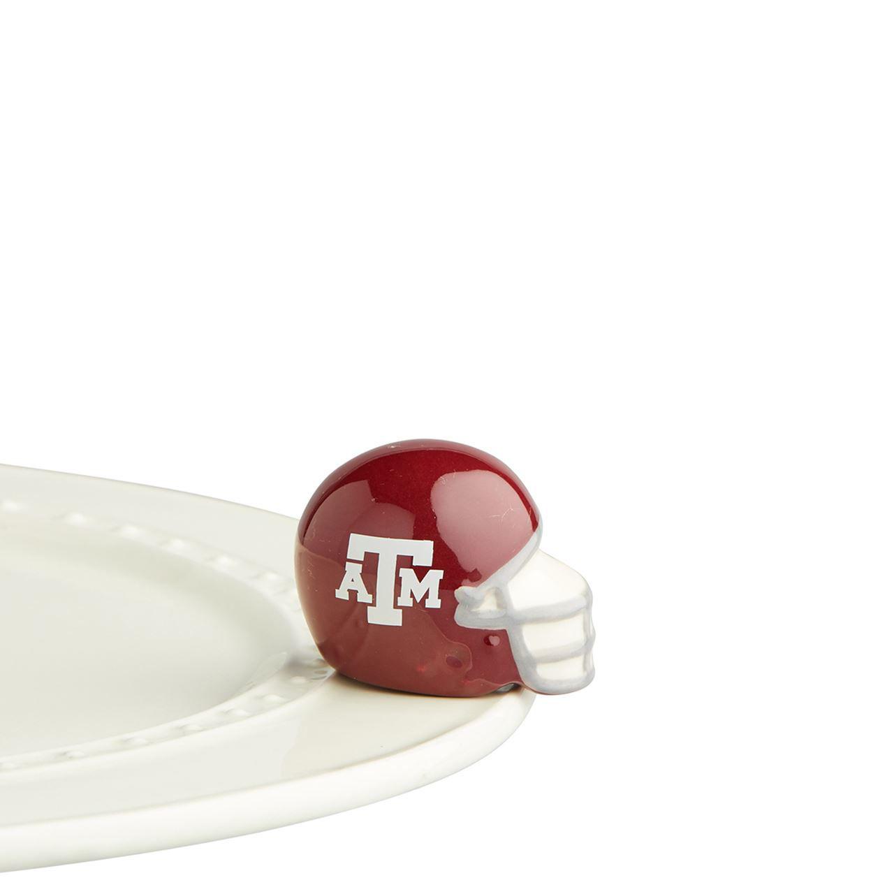 Texas A&M Helmet Mini by Nora Fleming