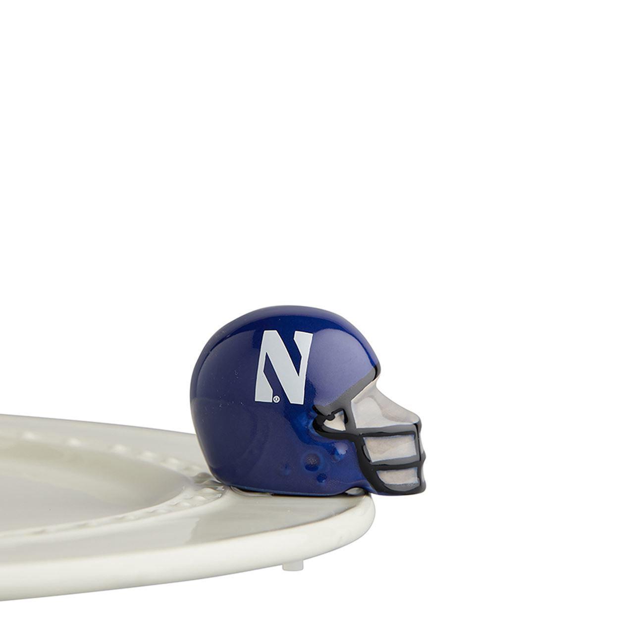 Northwestern Helmet Mini by Nora Fleming
