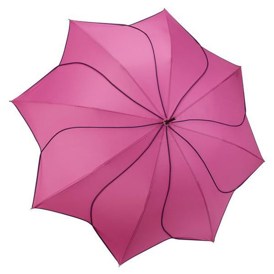 Pink/Navy Swirl Umbrella by Galleria