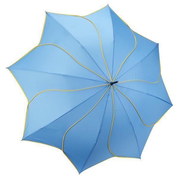 Aqua/Yellow Swirl Umbrella by Galleria
