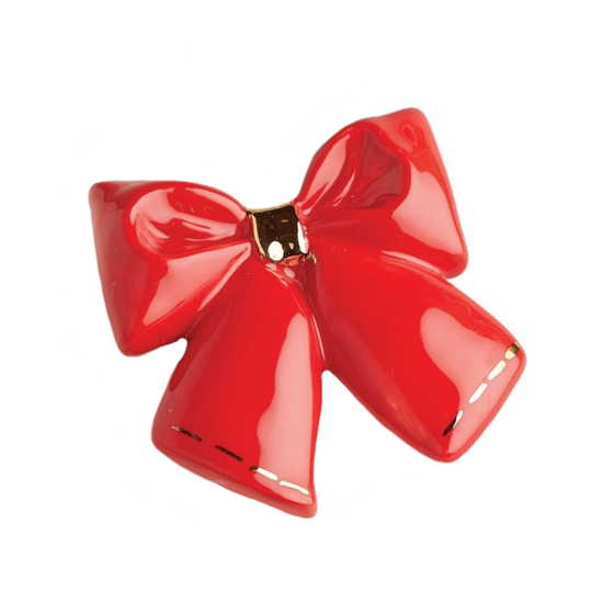 Wrap It Up (Red Bow) Mini by Nora Fleming