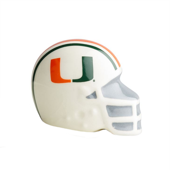 University of Miami Helmet Mini by Nora Fleming
