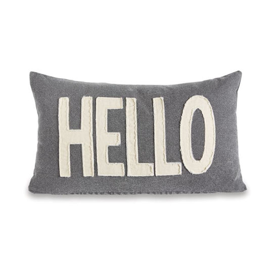 Washed Canvas Hello Pillow by Mudpie