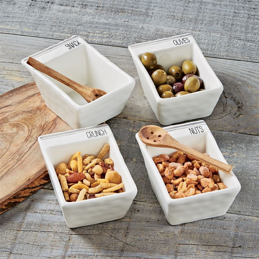 Olive Snack Bowl Set by Mudpie