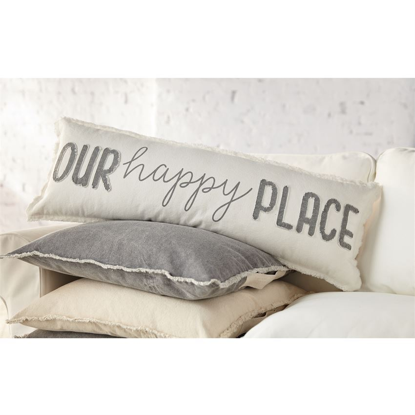 Our Happy Long Pillow by Mudpie