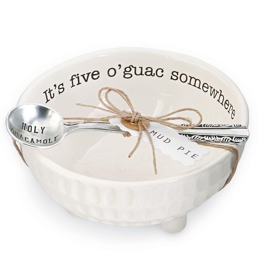 Guacamole Dip Cup Set by Mudpie