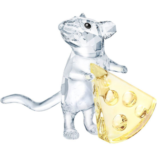 Mouse with Cheese by Swarovski