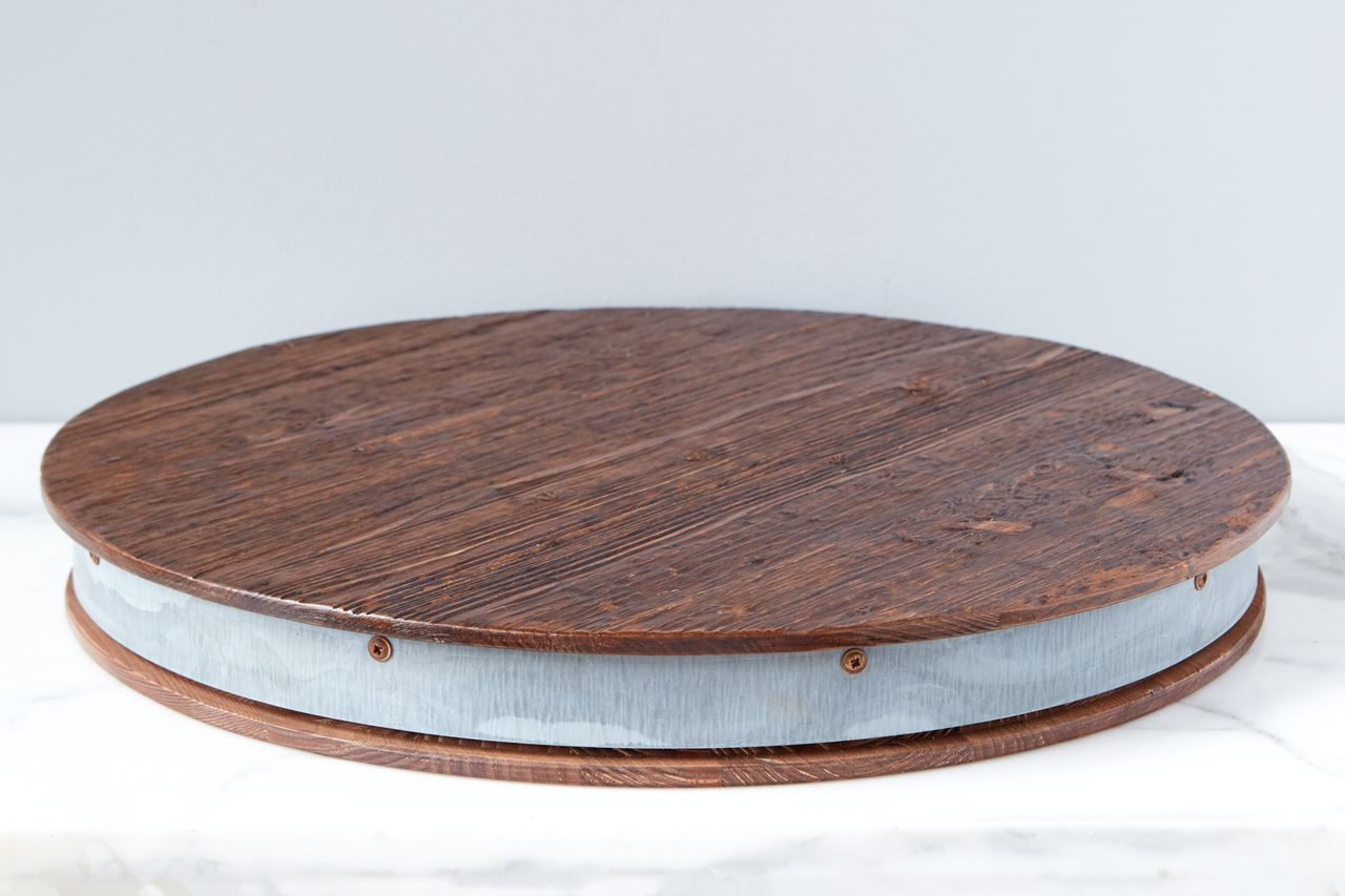 Bordeaux Wine Barrel Lazy Susan by etúHOME