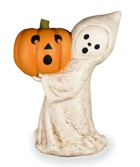 Little Ghost with Jack O' Lantern by Bethany Lowe Designs
