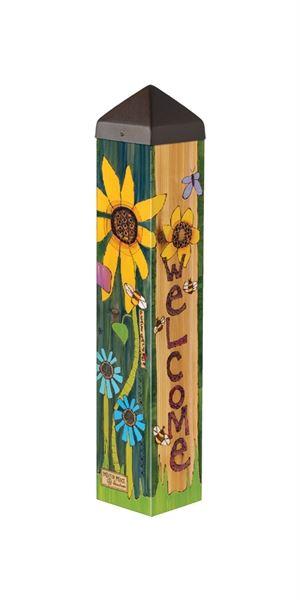 """Peace Garden 20"""" Art Pole by Studio M"""